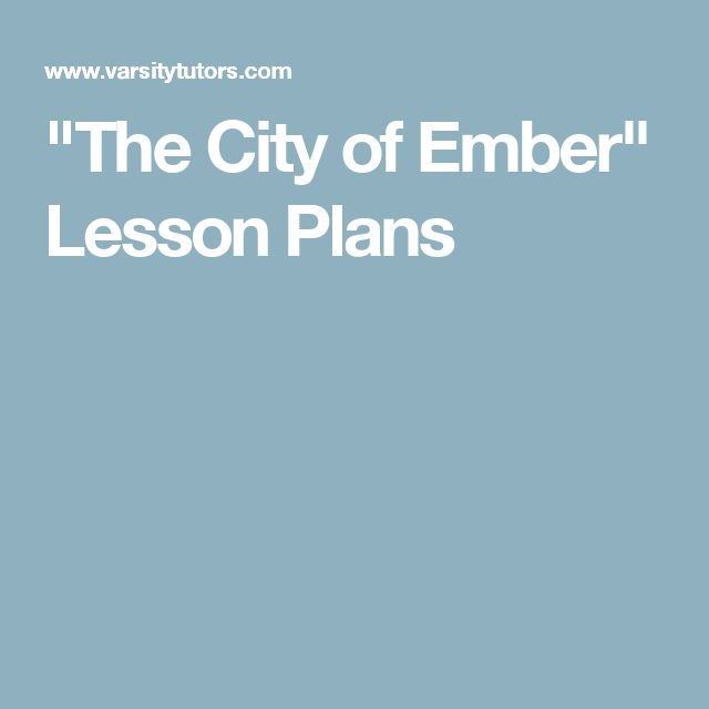 """The City of Ember"" Lesson Plans                                                                                                                                                                                 More"