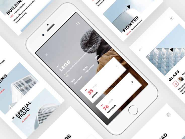 Design Life Video App UI Design-2 by Zhao Legs