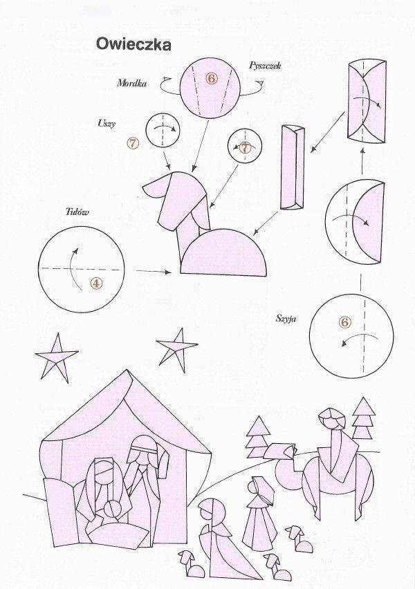 Szopka Bożonarodzeniowa z papierowych kółek - Hobby - Fotosik.pl