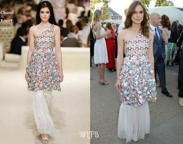 Keira Knightley In Chanel Resort - The Serpentine Gallery Summer Party. Re-tweet and favorite it here: https://twitter.com/MyFashBlog/status/484203305531228161/photo/1