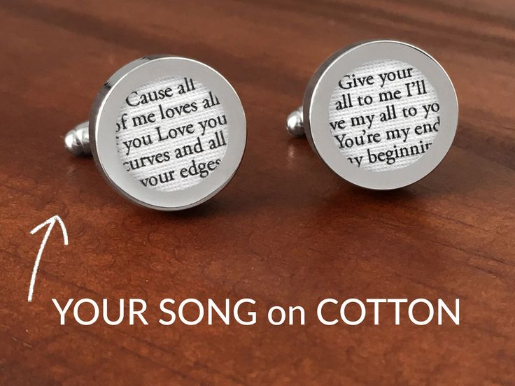 Cotton Anniversary Gift for Him / 2nd Anniversary Gifts for Men /Second Anniversary Gifts for Men /Custom Cufflinks with your Song on COTTON by PaperAnniversaryLove on Etsy https://www.etsy.com/listing/287955285/cotton-anniversary-gift-for-him-2nd