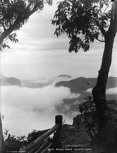 Govett's Leap, Blackheath (c. 1900) Blue Mountains (NSW Australia) via Powerhouse Museum (Flickr Commons).