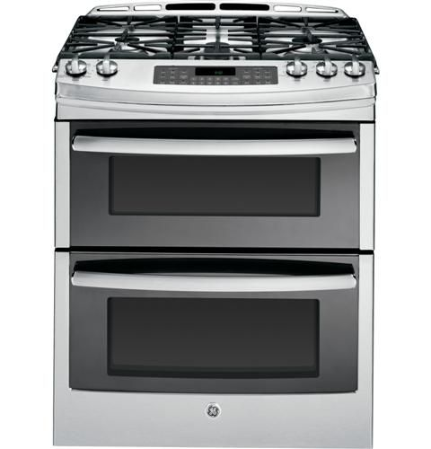 """Winner winner chicken dinner, love this stove. like the idea of having all the controls up front & made of glass(not plastic), not having to reach over hot pans to turn an oven on, more open cooking space, double ovens, griddle.. GE PGS950SEFSS Profile 30"""" Stainless Steel Gas Slide-In Sealed Burner Double Oven Range - Convection"""