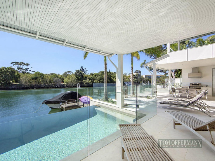12 Noosa Parade Noosa Sound Qld 4567    Extraordinary Waterfront Haven    Located barely three minutes level walk from Hastings Street, the golden sands of Noosa Main Beach and the picturesque waters of Laguna Bay, this exceptionally well designed absolute waterfront residence delivers an uncompromised level of quality and timeless appeal.    Bearing the recognized trademarks of internationally renowned Sunshine Coast designer Stephen Kidd.