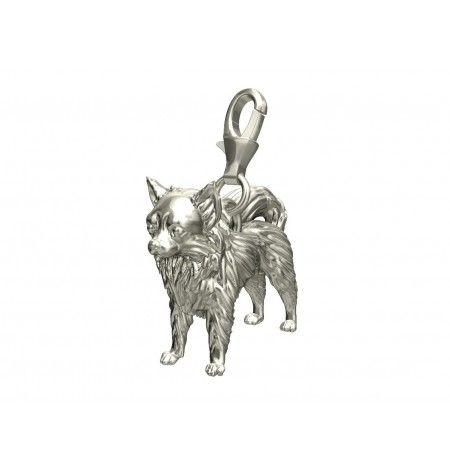 Long Haired Chihuahua Dog Charm Chihuahua From Silver Dog