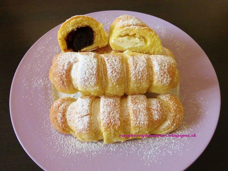 Raspberrybrunette: Kysnuté rohlíčky  Veľmi jemné a chutné rohlíčky.Ro...