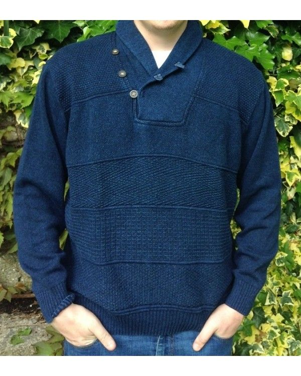 Special Offer #Blue #Willi's Multi Stitch Sweater. 100% pure cotton. Nature's best - you can't beat it.  Washable following care label instructions.