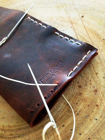 Leather sewing tip - handmade wallet | prim object leather craft | New York MXS