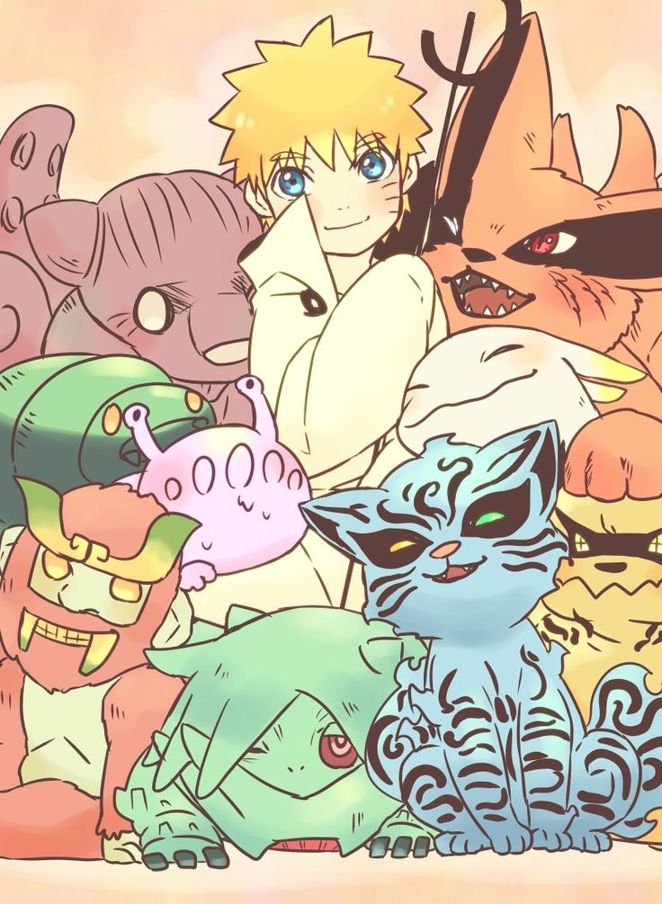 Naruto and the tailed demons as young ones                                                                                                                                                                                 Mehr