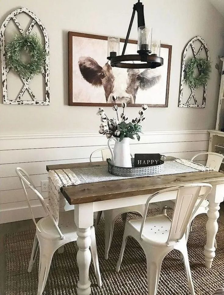 Unique Best Cozy Rustic Dining Room Decor Ideas You Love 34 In 2020 Farmhouse Dining Rooms Decor Farmhouse Dining Room Table Dining Room Decor Rustic