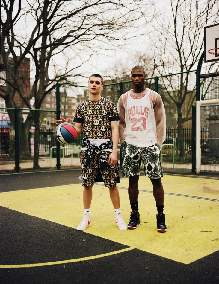 Basketball print! Mens sportswear has taken a new twist!
