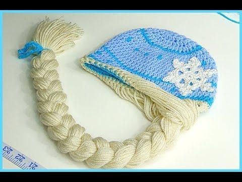 How to Crochet Elsa Anna Disney Frozen  Princess Braided Winter Hat - http://www.knittingstory.eu/how-to-crochet-elsa-anna-disney-frozen-princess-braided-winter-hat/