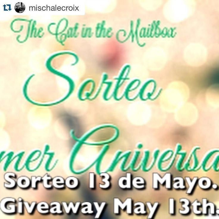 Recuerden que el sorteo (son 18US$ para gastar en Booky) termina el 13 de Mayo y es internacional!  #TheCatintheMailbox  International giveaway (US$18 Bookdepository)  LINK: bit.ly/1XR72U3  #sorteo #internacional #international #giveaway #booky #anniversary #blog #litblogger #litbloggerchile #cat #catstagram #book #bookblog #booklover #bookstagram #books #bookaddict #booklover #booky