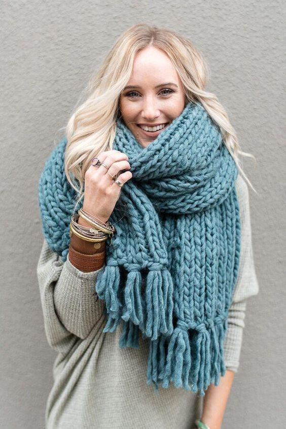 Lulus Let's Chill Heather Grey Oversized Knit Scarf