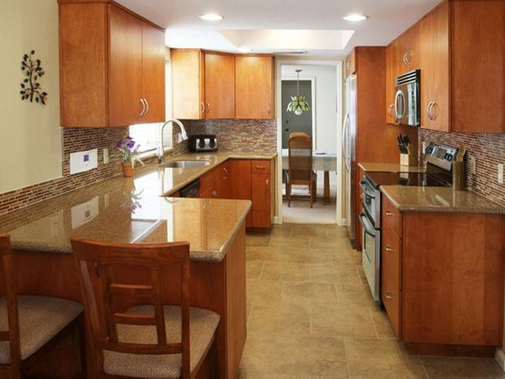 Craftsman style galley kitchen google search kitchen for Updated galley kitchen photos