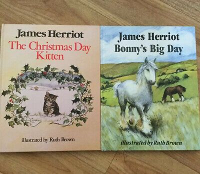 2 COLLECTABLE JAMES HERRIOT BOOKS - BONNYS BIG DAY & THE CHRISTMAS DAY KITTEN   eBay in 2020 ...