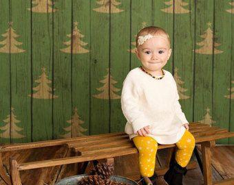 5 pies x 5 pies + telón de fondo de la fotografía - O fondo de árboles de Navidad, Navidad como telón de fondo, Telón de fondo de vacaciones, Telón de fondo de madera