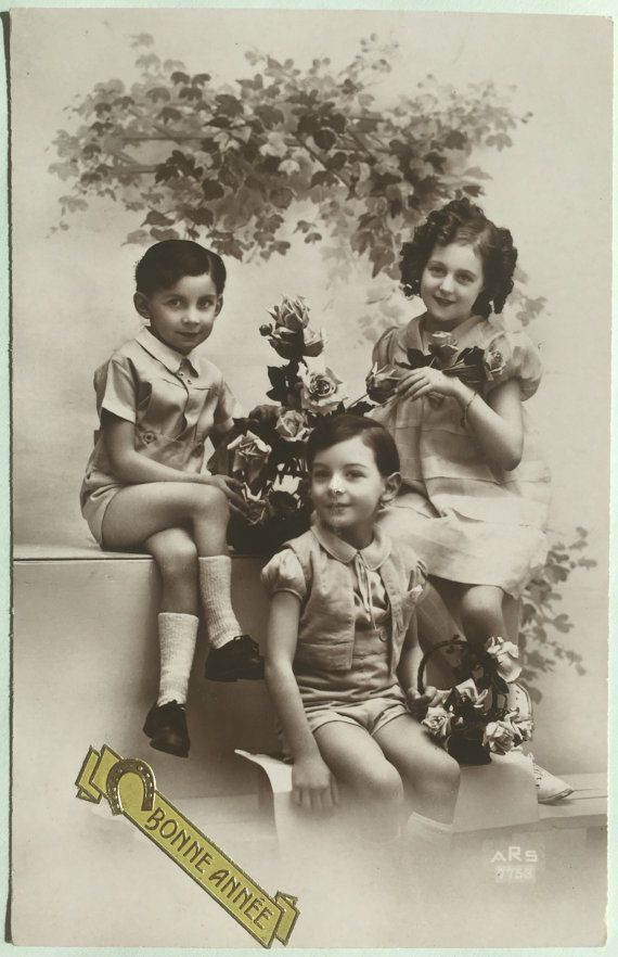 1940s children photograph  Picture of 3 by ExcusemyFrenchShop