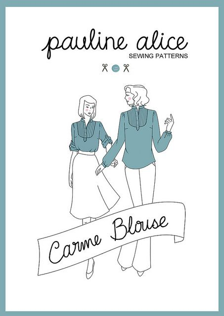 Carme blouse pattern by pauline.alice