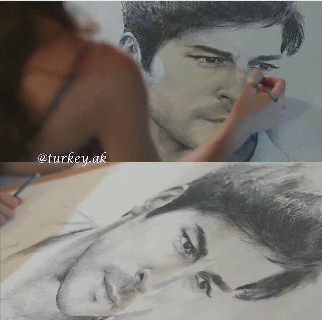 Kemal's sketch! Kara sevda