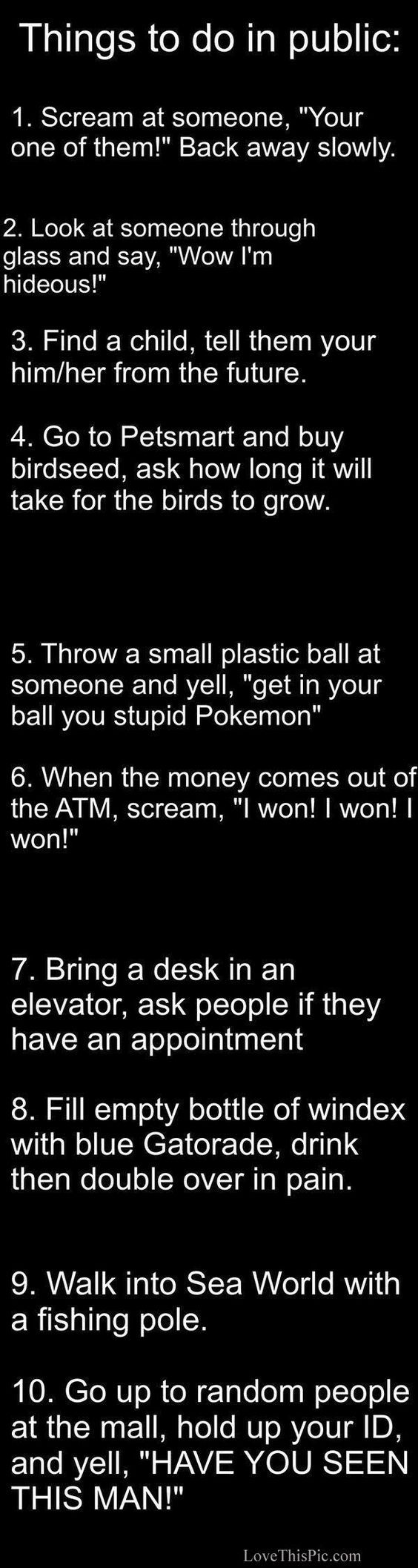 10 Hilarious Things To Do In Public funny jokes story lol funny quote funny quotes funny sayings joke humor stories funny jokes: