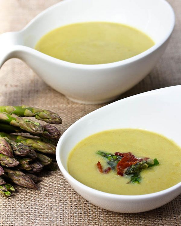 Light and Creamy Asparagus Soup (healthy no cream base)