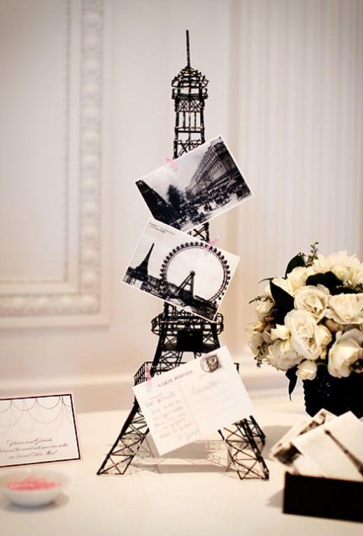 Black & white postcards from Paris.Paris Parts, Postcards, Ideas, Coco Chanel, Eiffel Towers, Paris Decor, Bridal Shower, Guest Book, Cocochanel