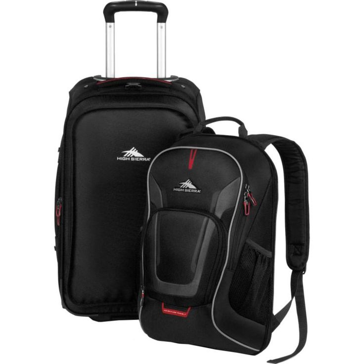 High Sierra AT7 Wheeled Backpack, Black