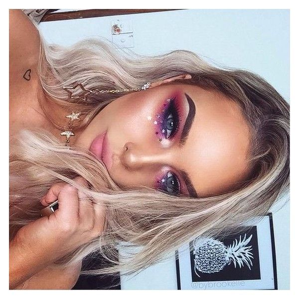Festival makeup glitter ❤ liked on Polyvore featuring beauty products and makeup