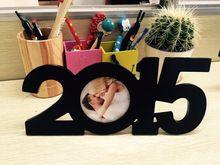 Nowy nowoczesny design ramka 2015 drewniane ramki na zdjęcia rodzinne zdjęcie ramki na zdjęcia czarna podstawa sztuki diy home decor darmowa wysyłka(China (Mainland))