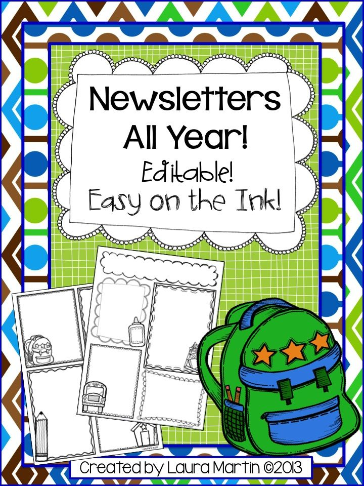 Peace, Love, and First Grade: Ink Friendly Newsletters