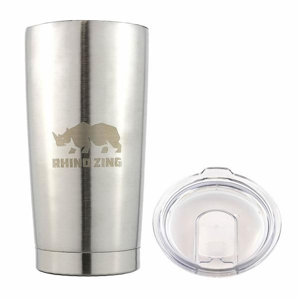 Rhino Zing is proud to provide their largest travel insulated coffee mug. The Huge 20 ounce capacity is the ideal size to fill with your favored coffee, or any hot or cool drinks with you for your day. The clear Lid is heavy duty and clear to allow you see your beverage