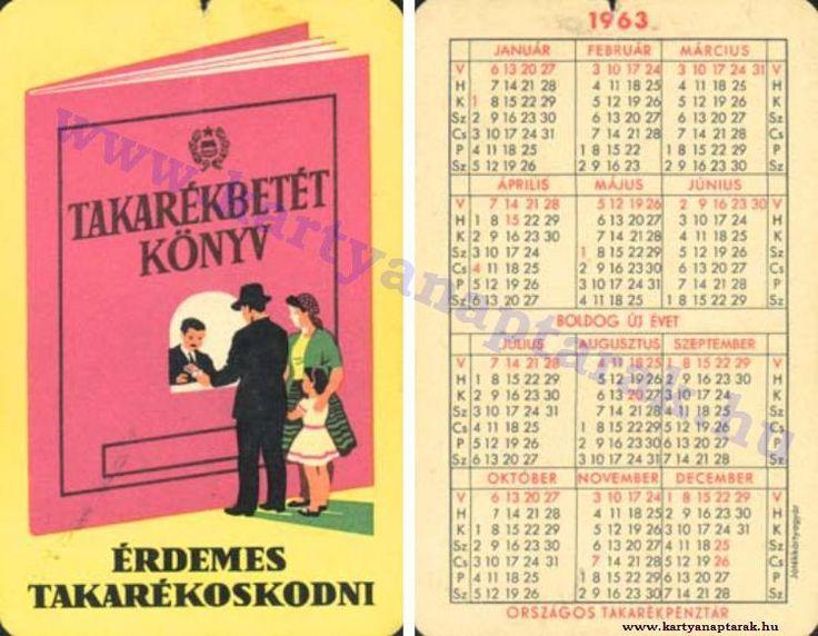 1963 - 1963_0104 - Régi magyar kártyanaptárak
