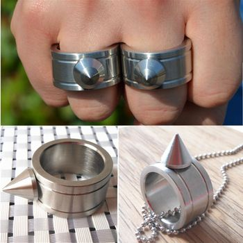 http://s.click.aliexpress.com/e/2b2vNbq7i Zinc Alloy Self-defense Product Self Defense Shocker Weapons Ring Can Be Used As Keychain And Necklace. http://adf.ly/1dfKnq