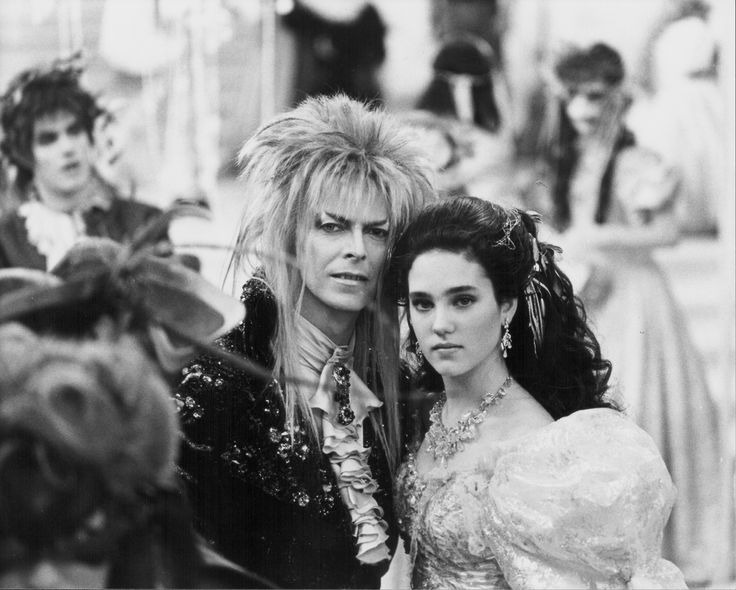 Jennifer Connelly and David Bowie in the Labyrinth... | Labyrinth Nook http://labyrinthnook.tumblr.com/post/110366346848/jennifer-connelly-and-david-bowie-in-the-labyrinth