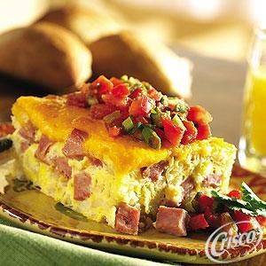 Ham and Cheese Brunch Casserole | brunch food | Pinterest