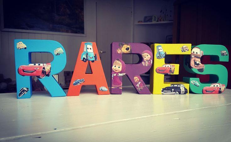 Nursery letters cars boy