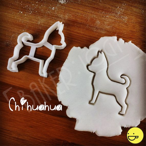 Chihuahua Dog cookie cutter  biscuit  fondant  clay by Bakerlogy