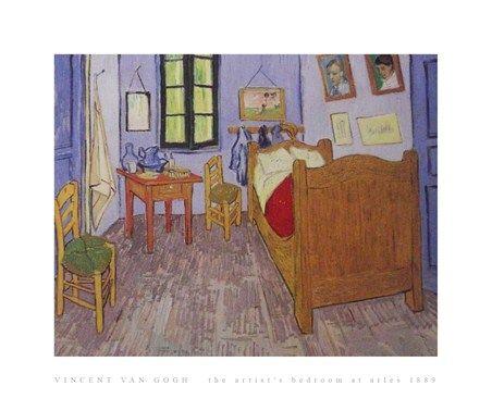 The Artist's Bedroom at Arles 1889 Vincent Van Gogh #impressionism
