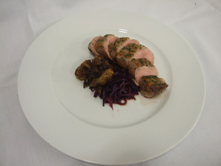 Seared Duck Breast with roast shallots and red cabbage #mcr #marriott #food #yummy #manchester #vanda #newmenu