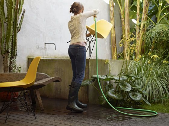 With Its Water Resistant Material, The Eames Plastic Chair Can Be Used  Outdoors As