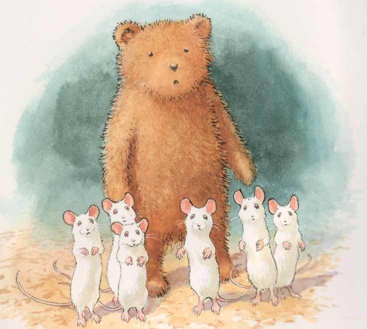 Pequeño oso y los seis ratones blancos. Chris Wormell