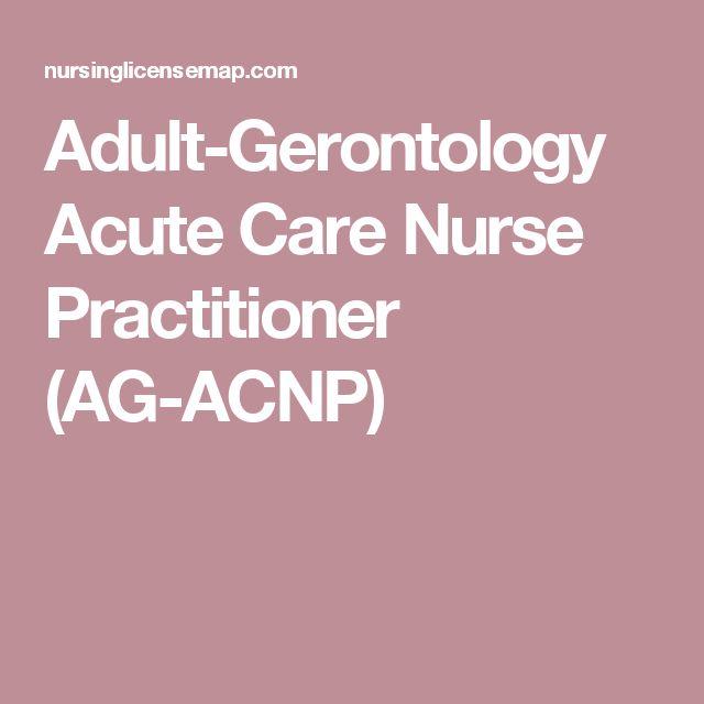 Adult-Gerontology Acute Care Nurse Practitioner (AG-ACNP)