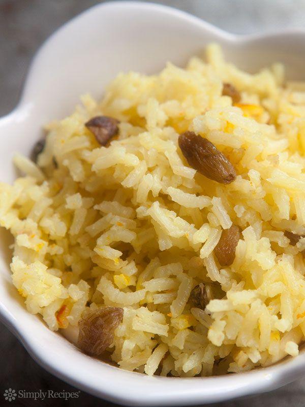 Saffron Rice Pilaf ~ Saffron rice, an Indian rice pilaf seasoned with ...