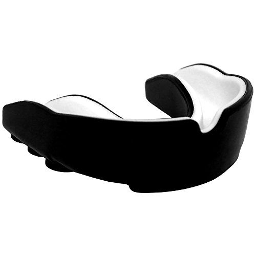 Mouthguard by SOUTHPAW for MMA, Boxing and all Contact Sports, Fits Adults 11+ Custom Boil & Bite Easy Fit with High Degree of Comfort and Durability, Includes Protective Case and Simple Instructions  Designed for a quick and easy fit with our simple boil & bite instructions  Durable shock absorbing mouthguard to protect your mouth from injuries  Comes with a SOUTHPAW protective case to prevent bacterial growth  Dual density structure, softer than other teeth protectors  Flexible and e...