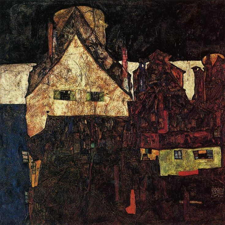 The Small City (Dead City) - Egon Schiele - WikiPaintings.org