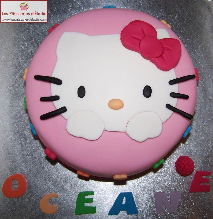 Les Pâtisseries d'Élodie: Gâteau 2D : Hello Kitty (Rainbow Cake)