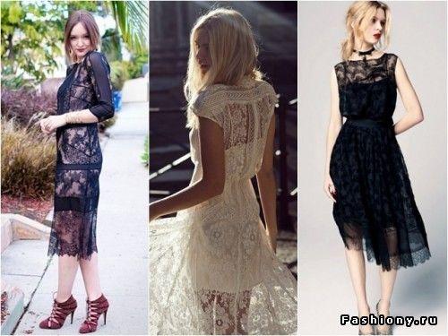 Кружевные платья модниц / прически к кружевному платье