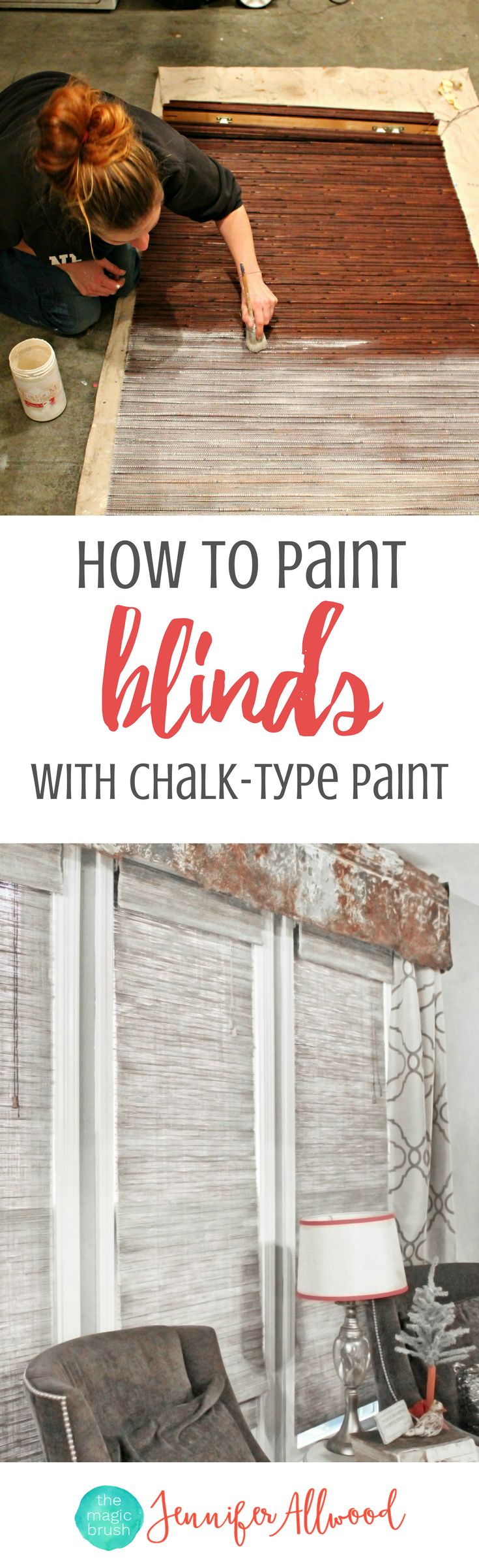 Painted Blinds & Painting Wood Blinds | Magic Brush | How to paint blinds from dark and drab to neutral using chalk-type paints | Home Decorating Ideas | Easy Home Updates with Paint