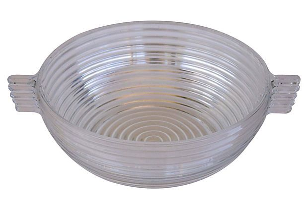 One Kings Lane - New York Sophistication - Manhattan Glass Midcentury Serving Bowl  $125